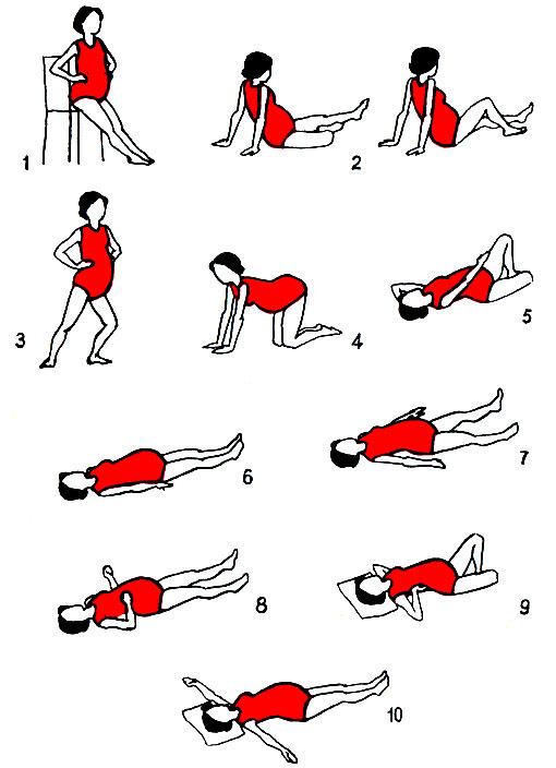 Комплекс упражнений для беременных второй триместр в домашних условиях 17